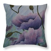 Growing Rains Throw Pillow