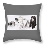 Growing Up Saluki Throw Pillow