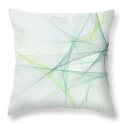 Growth Computer Graphic Line Pattern Throw Pillow