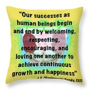 Growth With Humanity Throw Pillow