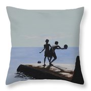 Groyne Series - What A Catch Throw Pillow