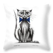 Grubby Paws Throw Pillow