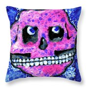 Grumbles The Discontent Purple Throw Pillow