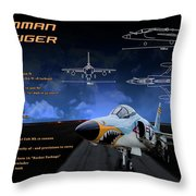 Grumman F-11 Tiger Throw Pillow
