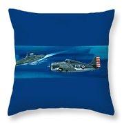 Grumman F4rf-3 Wildcat Throw Pillow