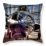Grumman F9f-8 F-9j Cougar Throw Pillow