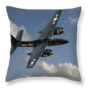 Grumman Tigercat Throw Pillow