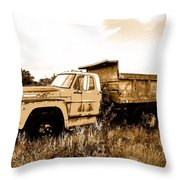 Grump The Ford Dump Truck Throw Pillow