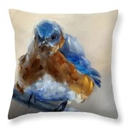 Grumpy Bird Throw Pillow