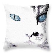 Grumpy Cat Portrait Throw Pillow