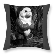 Grumpy Dwarf Throw Pillow