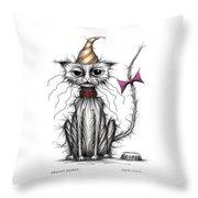 Grumpy George Throw Pillow