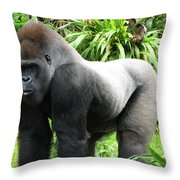 Grumpy Gorilla II Throw Pillow