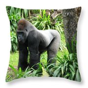 Grumpy Gorilla IIi Throw Pillow