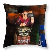 Grumpy Monk Throw Pillow
