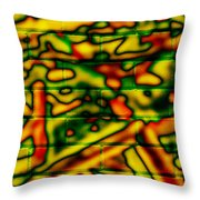 Grunge Graffiti Throw Pillow
