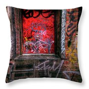 Grunge Junkies Unite Throw Pillow