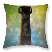 Grunge Lighthouse Throw Pillow