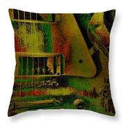 Grunge Metal Throw Pillow