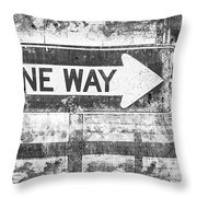 Grunge One Way Throw Pillow