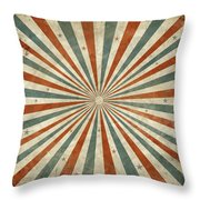 Grunge Ray Retro Design Throw Pillow