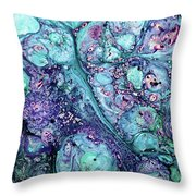 Grunge Sea Coral Abstract Throw Pillow