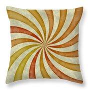 Grunge Swirl Throw Pillow