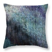 Grunge Texture Blue Ugly Rough Abstract Surface Wallpaper Stock Fused Throw Pillow