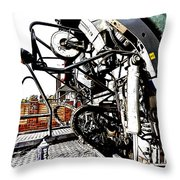 Grungy Jcb Throw Pillow