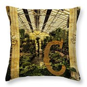 Grungy Melbourne Australia Alphabet Series Letter Throw Pillow