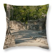 Grupo Coba At The Coba Ruins  Throw Pillow