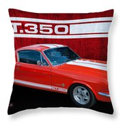 Red Gt 350 Mustang Throw Pillow