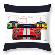 Gt Run Throw Pillow
