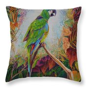 Guacamayo Throw Pillow