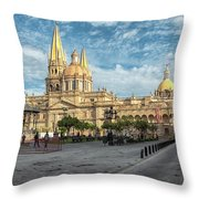 Guadalajara Cathedral Throw Pillow