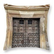Guadalajara Door 4 Throw Pillow