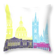 Guadalajara Mx Skyline Pop Throw Pillow