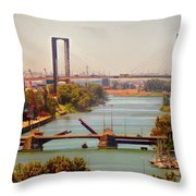 Guadalquivir River Throw Pillow