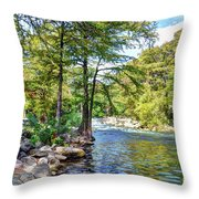 Guadalupe River - Gruene Throw Pillow