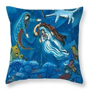 Guadalupe Visits Chagall Throw Pillow