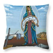 Guadalupe Visits Dali Throw Pillow