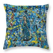 Guadalupe Visits Pollack Throw Pillow