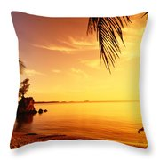 Guam, Agat Bay Throw Pillow