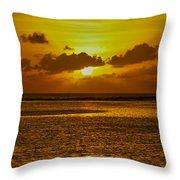 Guam Sunset Throw Pillow