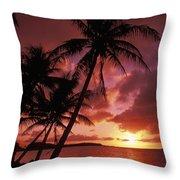 Guam, Tumon Bay Throw Pillow