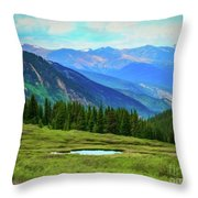 Guanella Pass Impression Throw Pillow