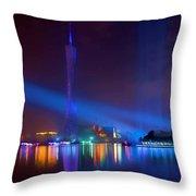 Guangzhou Tv Tower 1 Throw Pillow