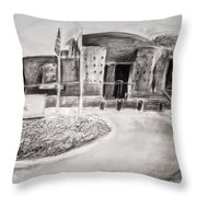 Guarded Entrance Throw Pillow