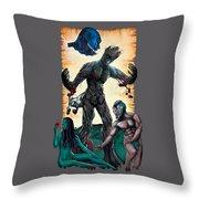 Guarden Of Eden Or Guardians Of Eden Original Available Throw Pillow