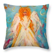 Guardian Angel Throw Pillow by Barbara Pirkle